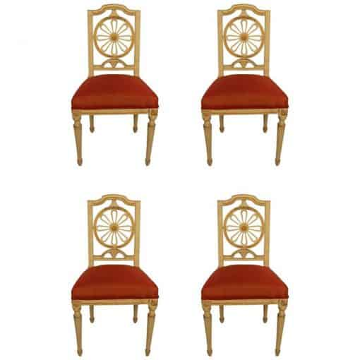 Four Gustavian Chairs- 19th century- styylish