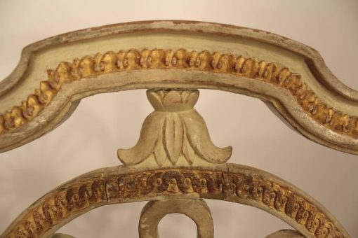 Four Gustavian Chairs- closeup backrest- styylish
