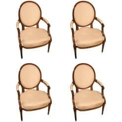 Set of 4 Louis XVI Armchairs- styylish