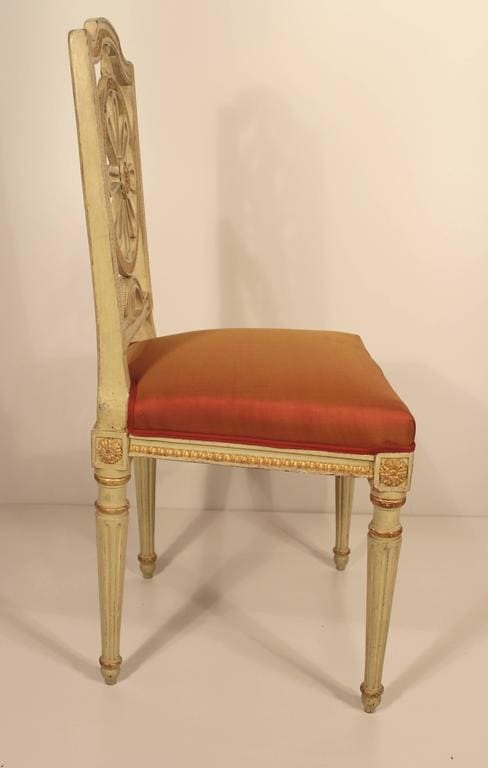 Four Gustavian Chairs- side- styylish