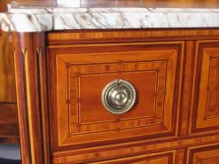 18th Century Louis XVI Commode- closeup drawer- styylish