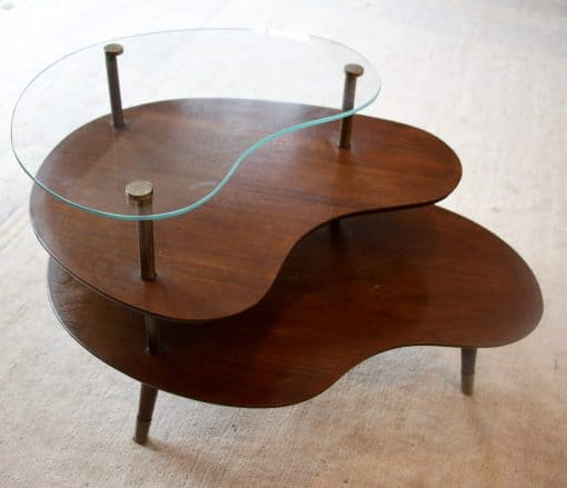 Mid century side table- top view- styylish