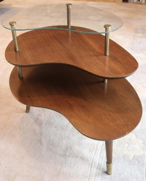 Mid century side table- side view- styylish
