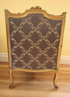 19th Century Gilded Wood Bergere- back- styylish