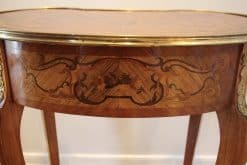 Pair of Louis XV Style Side Tables- closeup back- styylish