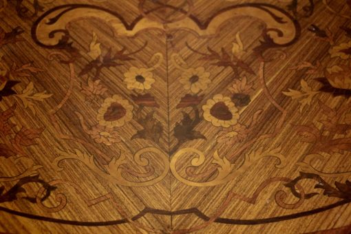 Pair of Louis XV Style Side Tables- closeup top- styylish