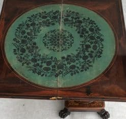 English Regency Card Table- open top- styylish