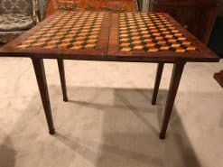 French Antique Card Table- open side- styylish