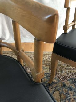 Vintage Pair of Drexel Lounge Chairs- closeup backrest- styylish