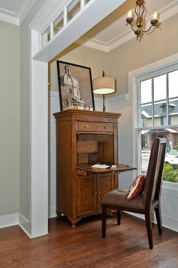 Baroque Period - A Cozy Work Space Using A Drop Front Desk