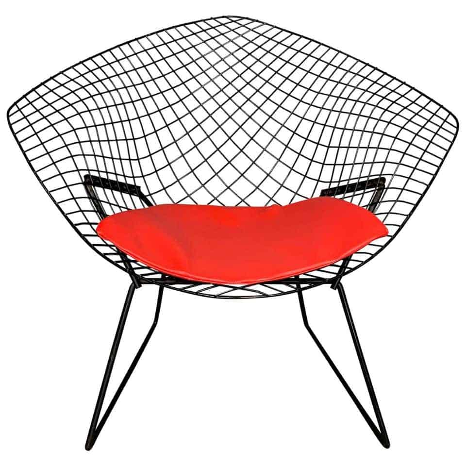 midcentury-furniture-harry-bertoia-diamond-chair-with-red-seat