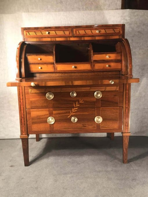 Antique Cylinder Desk- open- styylish