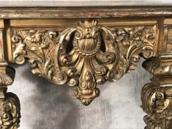 Giltwood Console Table- closeup front- styylish