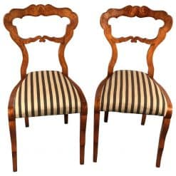 Pair of Biedermeier Chairs- 19th century- styylish