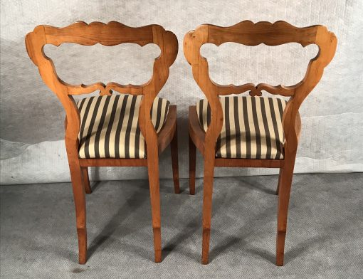 Pair of Biedermeier Chairs- back- styylish