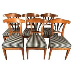 six Biedermeier chairs- 19th century- styylish