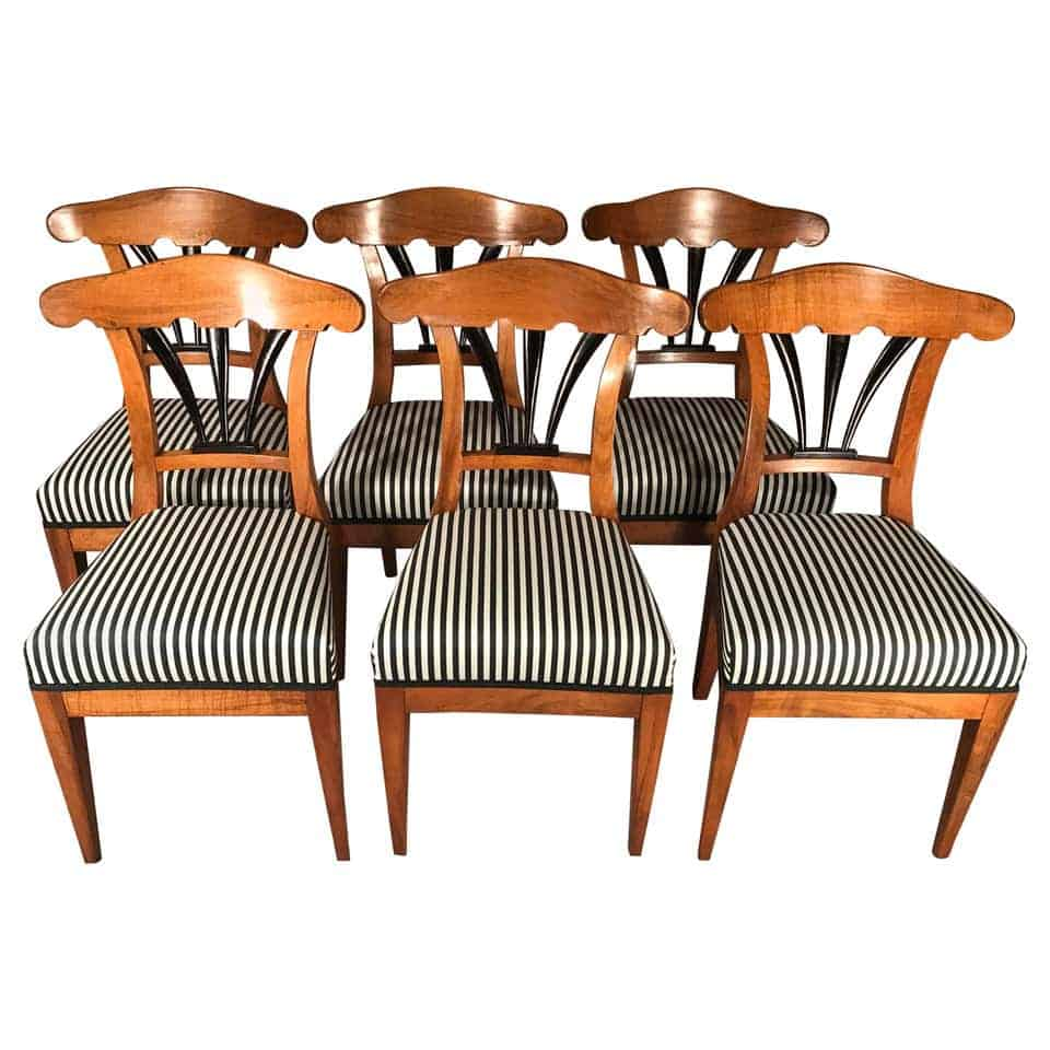 Set of six Biedermeier chairs- 19th century- styylish