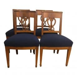 Set of four Biedermeier Chairs- walnut- styylish