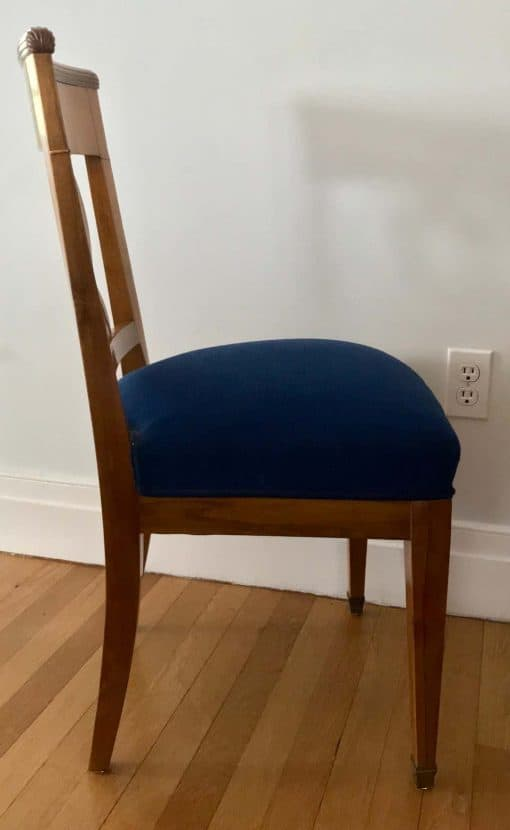 Set of four Biedermeier Chairs- side view- styylish