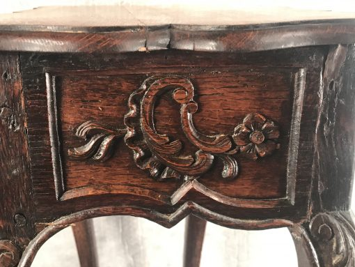 Baroque Side Table- detail of side- styylish