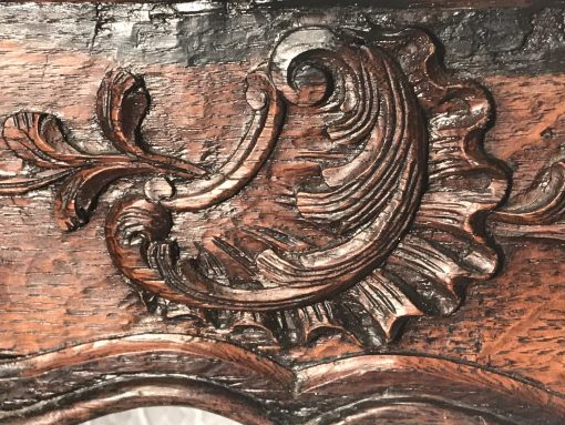 Baroque Side Table- detail of carved rocaille- styylish