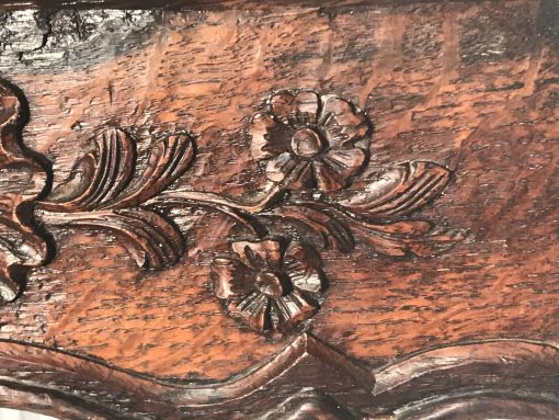 Baroque Side Table- detail of carving- styylish