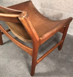 Mid century modern chair- corner view- styylish