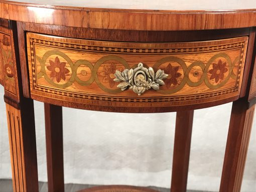 Antique side table- front view of drawer- styylish