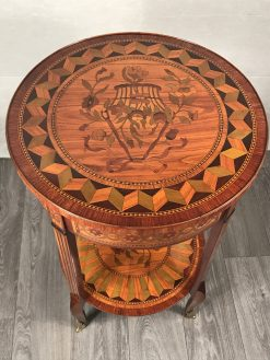 Antique side table- top and shelf- styylish