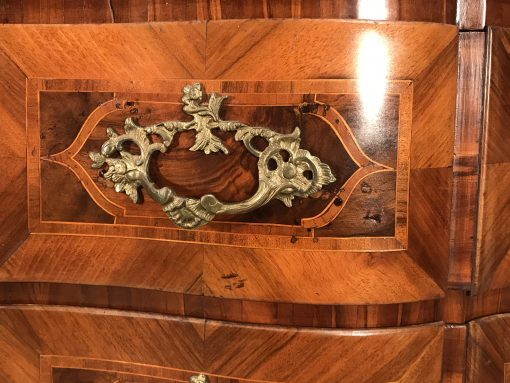 Baroque furniture- bronze fitting of a chest- styylish