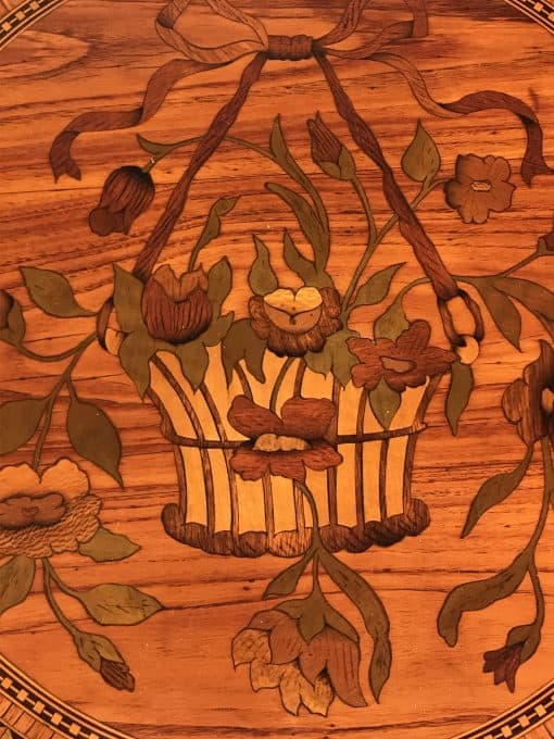 Antique side table- detail of top- styylish