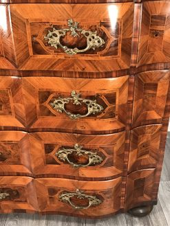 Baroque furniture- detail of drawers of a chest- styylish