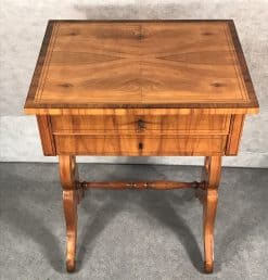 Biedermeier Sewing table- front view with top- styylish