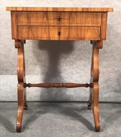 Biedermeier Sewing Table- front- styylish