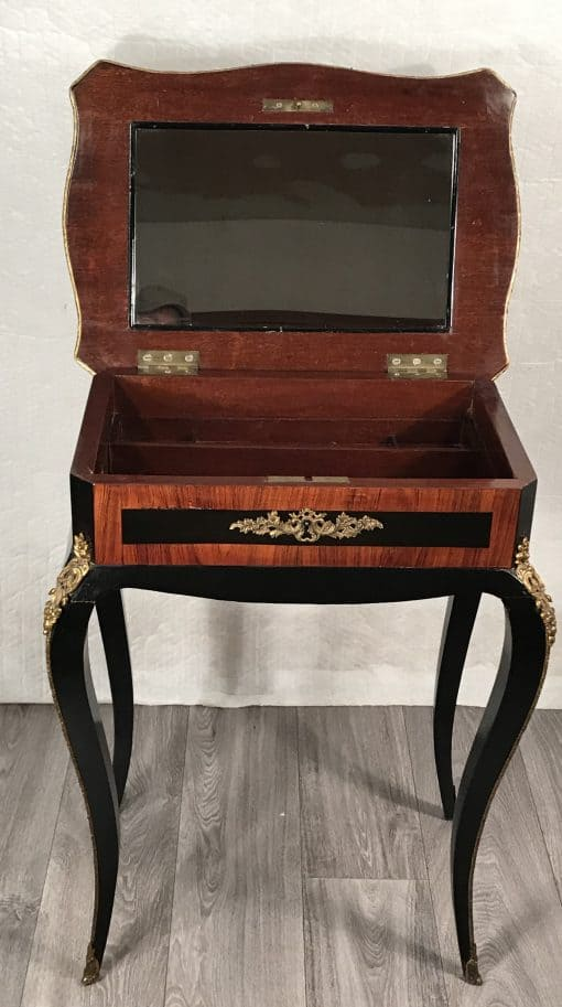 Second Empire Side table- interior with mirror- styylish