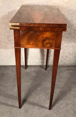 Biedermeier game table- side view- styylish