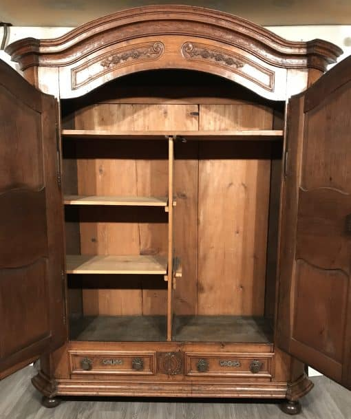 Antique armoire- inside view- styylish