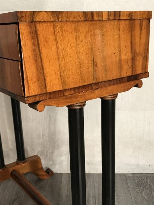 Biedermeier working table- view of the upper part- styylish