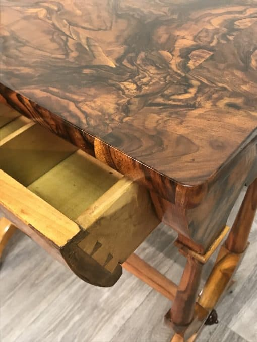 Biedermeier Sewing table- detail of drawer- styylish