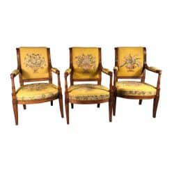 A set of three antique armchairs- styylish