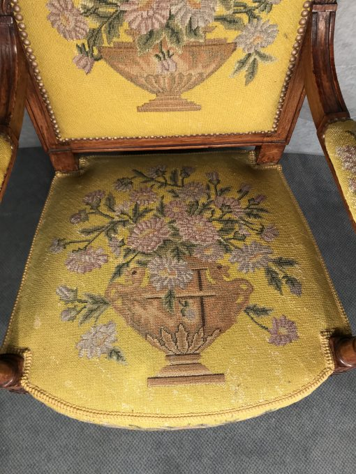 Antique armchairs- detail of a seat- styylish