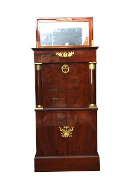Museal Mahogany Empire Secretaire, Side Drawers, Bronzes, France circa 1815