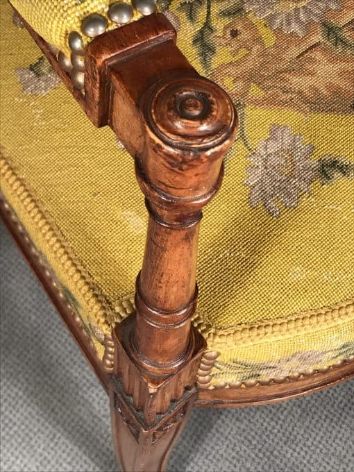 Antique armchairs- detail of the front- styylish