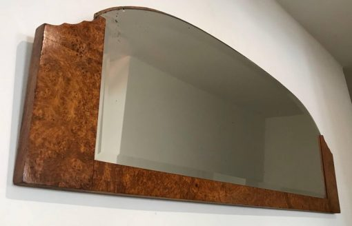 Art Deco Mirror, Thuja Roots, France, circa 1930