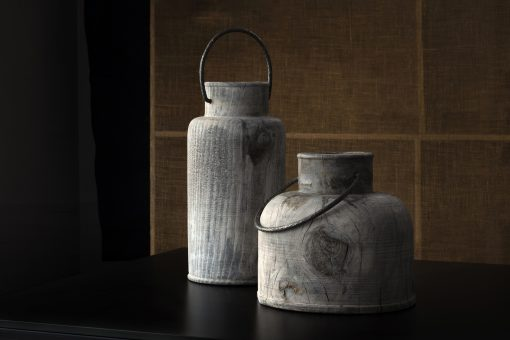 Pine wood vase- two different heights- styylish