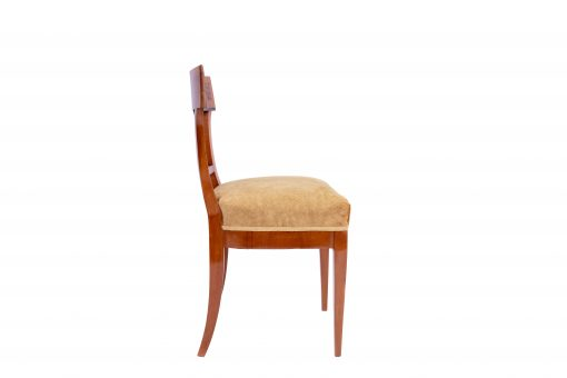 Walnut Biedermeier Chairs- left side- styylish