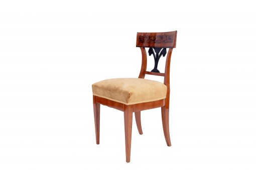 Walnut Biedermeier Chairs- 3/4- styylish