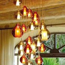 Murano Glass Pendant Light- example in a French country house- Styylish