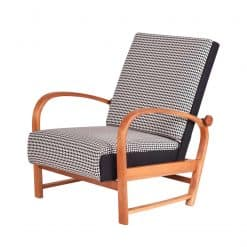 Thonet Armchair- with black and white upholstery- styylish