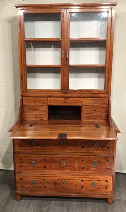 Antique Secretary Desk with bookcase- View of the open writing flap- styylish